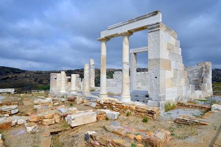 naxos: Demeter temple, Naxos island, Greece