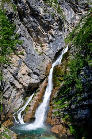bohinj: Savica waterfall, Bohinj in Slovenia