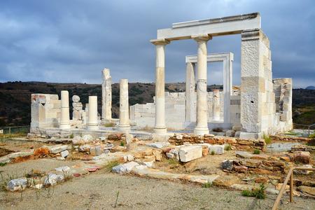 kyklades: Demeter temple, Naxos island, Greece