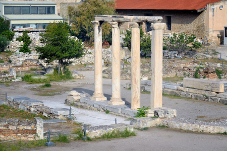hadrian: Ancient library of Hadrian, Athens, Greece