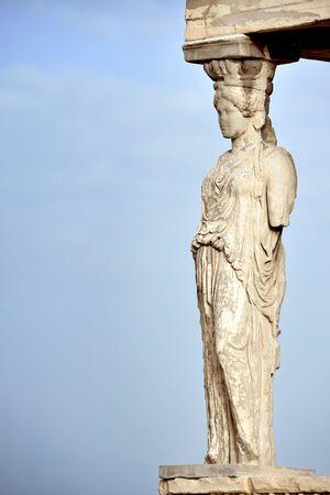 acropolis: Caryatid at Acropolis of Athens, Greece