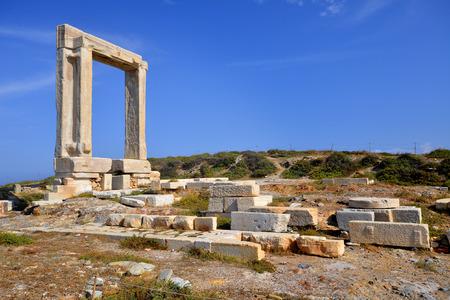 naxos: Portara of Naxos, ancient Greece landmark