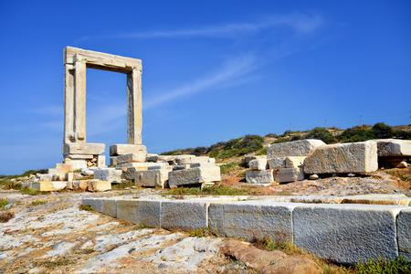 kyklades: Portara of Naxos, famous landmark of Kyklades