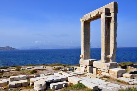 naxos: Portara of Naxos, famous landmark of Kyklades