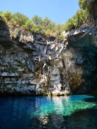 limnetic: Famous Melissani cave on Kefalonia island, Greece Stock Photo