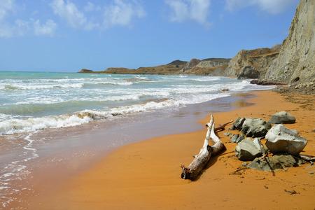 Famous Xi beach, Kefalonia, Greece