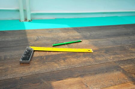 parquet floor layer: Home renovation concept, closeup image of flooring
