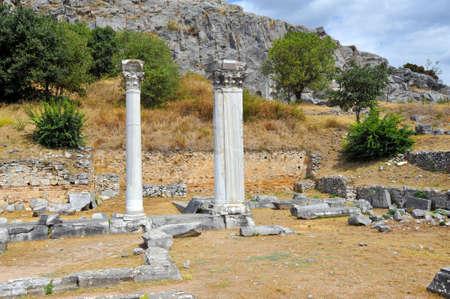 teatro antiguo: Antiguo teatro de la Filipi, Kavala, Grecia