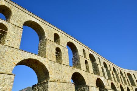 aqueduct: Ancient Roman Aqueduct, Kavala, Greece