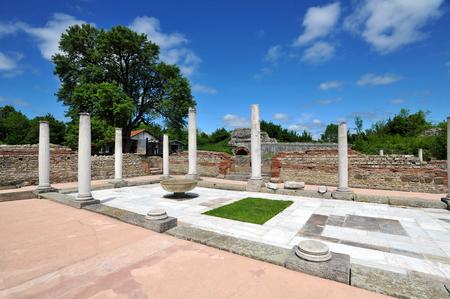 ZAJECAR, SERBIA - MAY 15:Ruins of ancient Roman archeological site Felix Romuliana, on May 15. 2019. in Zajecar, Serbia