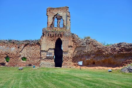 BAC, SERBIA - JUNE 27: Ruins of medieval castle Bac, founded in 9th century, on June 27.2019. in Bac, Serbia Sajtókép