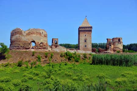 BAC, SERBIA - JUNE 27: Ruins of medieval fortress, on June 27.2019. in Bac, Serbia Sajtókép