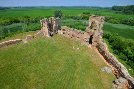 BAC, SERBIA - JUNE 27: Ruins of medieval fortress, on June 27.2019. in Bac, Serbia