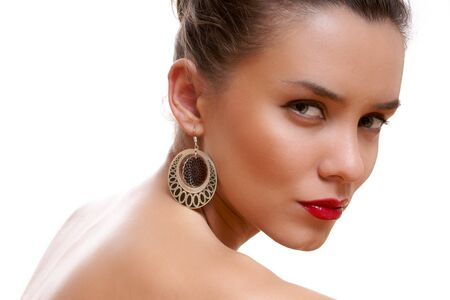 Portrait an attractive young lady Stock Photo - 7367906