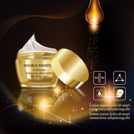 absorption: Double moisture cream, Improves moisture absorption for skin in the gold jar