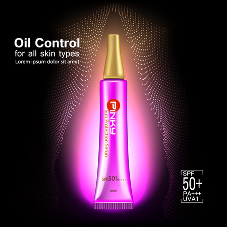 Protection UV and Whitening Cream Skin care concept