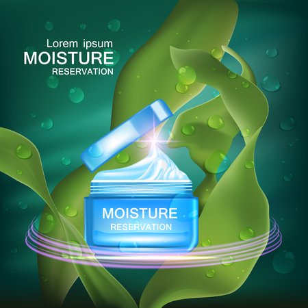absorption: moisture cream reservation, Improves moisture absorption for skin care in the green seaweed