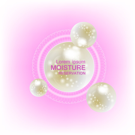 moisture cream reservation, Improves moisture absorption for skin care. Background Vector Concept with pearsl in lighting effect