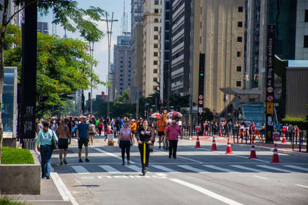 Paulista Avenue on Sunday