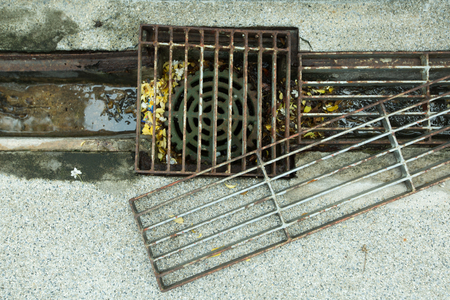 drains: Steel grating and drains were left open.