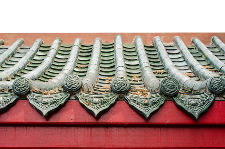The Chinese pavilion roof is very beautiful Stock Photo