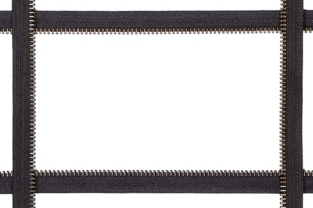 Frame made of zip stripes photo