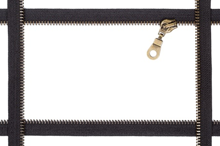 Zipper frame with zip lock photo