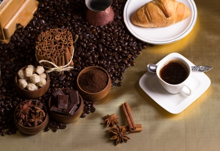 coffee and spices Stock Photo - 20870597
