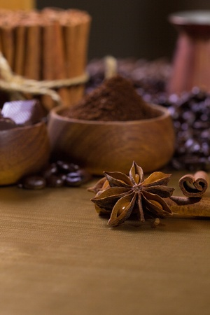 Spices and coffee Stock Photo - 22924354
