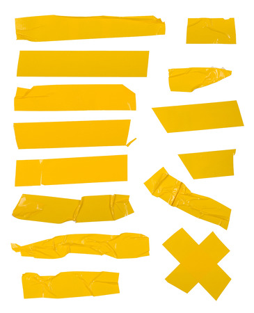Adhesive tape set  Isolated on white