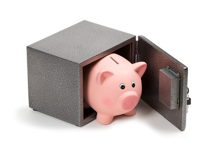 Piggy bank in safe photo