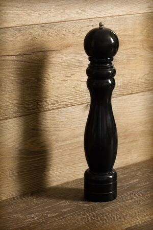Black pepper mill photo