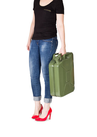 Woman carries jerrycan photo