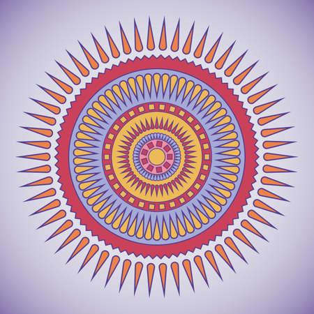 violet red: Red and violet tribal circle design   Illustration