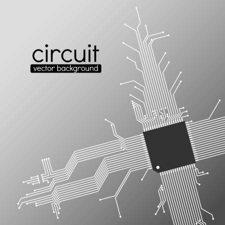Fondo de la tarjeta de circuito, el esquema de color gris claro