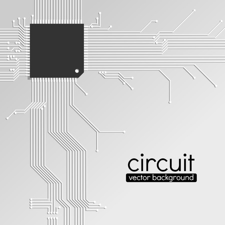 electrical engineering: Circuit board background, light grey color scheme