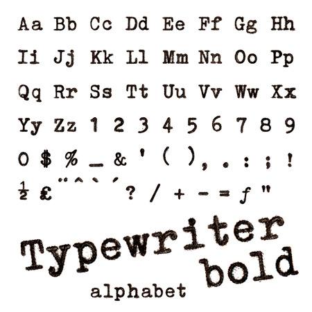 Typewriter bold alphabet photo