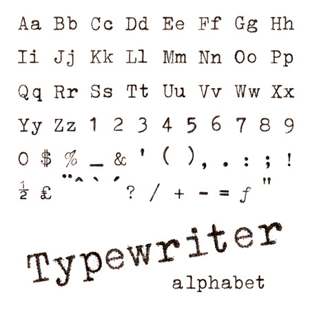 Typewriter alphabet  Macro photograph of typewriter letters isolated on white Reklamní fotografie - 29777780