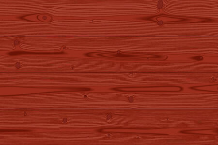 Red wood texture background, realistic illustration  Vector