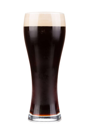 Beer glass willed with dark porter beer  photo