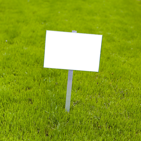 off road: Sign on grass whith isolated space for caption