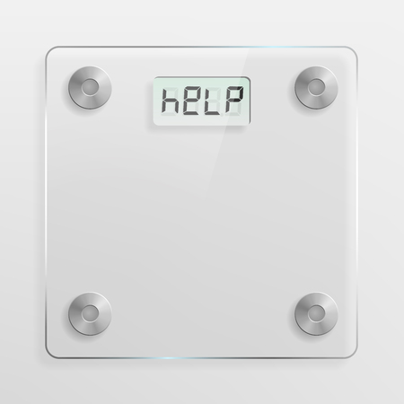 bathroom weight scale: Glass bathroom scale  Overweight, weight loss and diet concept