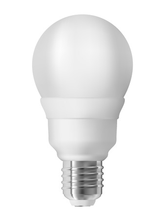Energy saving light bulb, isolated on white  Realistic vector illustration