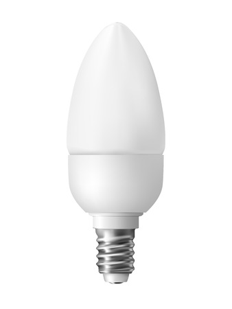 Energy efficient light bulb, isolated on white  Realistic vector illustration   Illustration