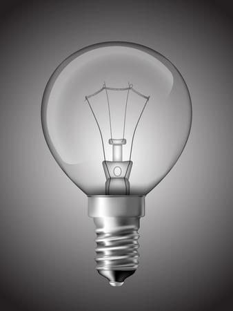 bedside: Light bulb for bedside lamp  Realistic vector illustration