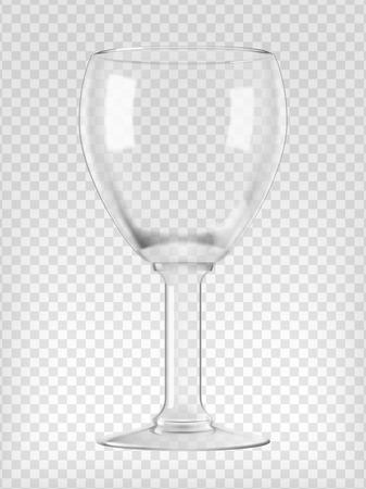 Empty beer goblet  Realistic transparent vector illustration  Vector