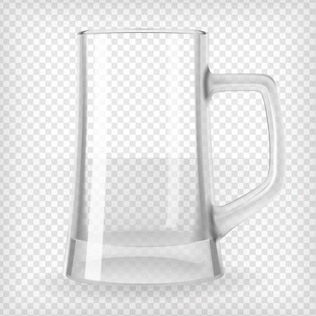 Empty beer mug  Realistic transparent vector illustration  Vector