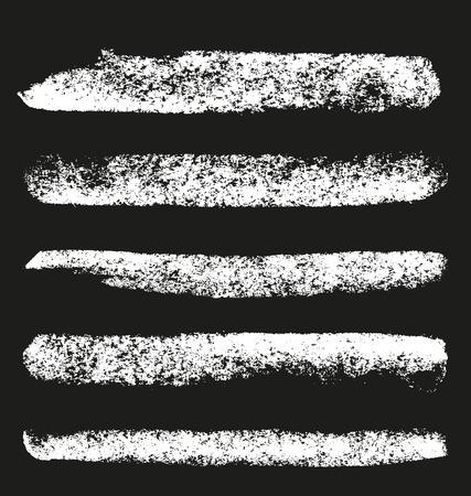 Set of grunge chalk brushes.