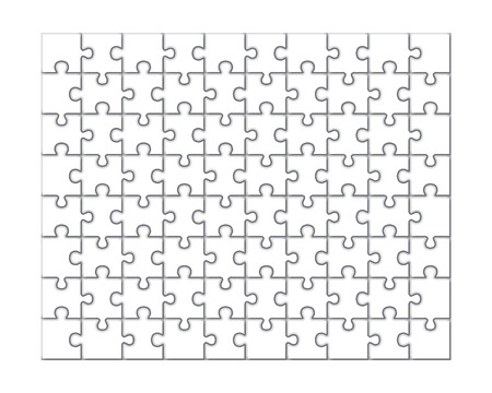 pices: Jigsaw puzzle pattern. White pices. Vector illustration. Illustration
