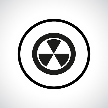 Radiation hazard symbol in a circle Illustration